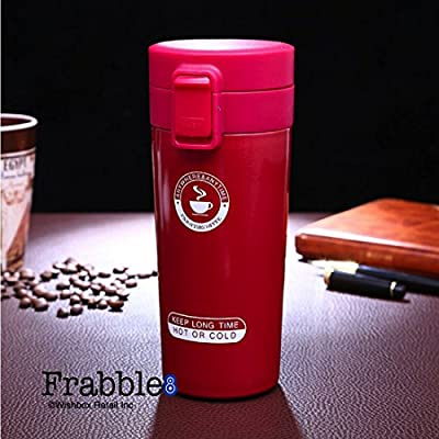 Frabble8 300 ML Double Wall Vacuum Insulated Travel Stainless Steel Coffee / Tea Mug, Thermocup , Flask , Thermos - With Tea Infuser , Mug , Tumbler , Sipper , Cup , Bottle Keep Drinks Hot and Cold For Upto 6 hours. For Home , gym , Sports , Office , Scho