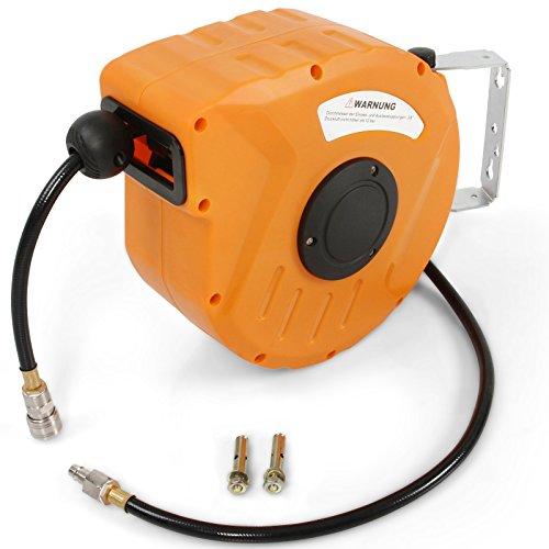 Avvolgitubo per aria compressa con tubo lungo 10 m   pressione operativa massima 8 bar   avvolgitubo compressore, air line compressor