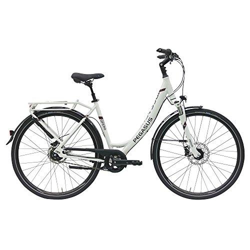 Pegasus Opero SL Damen Wave 8 Gang Cityrad Trekking Fahrrad 2017, Rahmenhöhe:45 cm, Farbe: Weiß