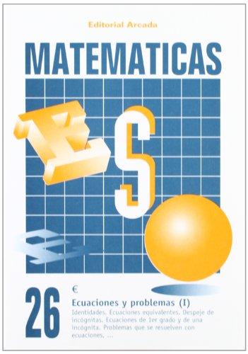 Matemáticas. Ecuaciones Y Problemas (I) 26 por Vv.Aa.