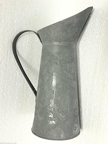 Metallkanne Zinkkrug Kanne Krug Zink Vase Dekokanne Metall Landhausstil Shabby