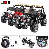 Actionbikes Motors Kinder Elektroauto Wrangler Offroad Jeep ALLRAD 2-Sitzer 4 x 35Watt 2x10AH Batterie Eva Reifen 4x4 (Schwarz)