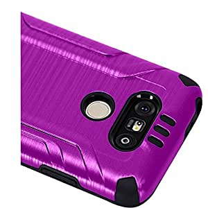 HR Wireless Carrying Case for LG G5 - Retail Packaging - Purple/Black