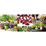 Krisah® 5 pcs Butterflies Stakes,10 pcs Mushrooms & 10pcs Ladybugs Garden/Plant Decor