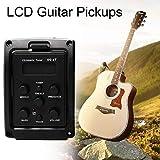 fghdfdhfdgjhh Fit EQ-4T 4 Band Pickup EQ-Vorverstärker mit Tuner für akustische Gitarre mit LCD-Tuner und Lautstärkeregler E-Gitarren-Vorverstärker