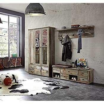 garderobe set garderobenschrank flurgarderobe. Black Bedroom Furniture Sets. Home Design Ideas