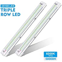 AMBOTHER Interior Lights 12V LED Strip Lights 108 LEDs Bar Lamp Universal Lighting DC12V 4.5W for Car Camper Van Bus Caravan Boat Motorhome Kitchen Bathroom 340MM ON/OFF Switch