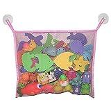 Lalang Baby Badewanne Spielzeug Aufbewahrungstasche Tasche Badespielzeug Netz Organizer Ordentlich Toys Mesh Beutel (Pink)