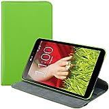 kwmobile Funda 360° para LG G Pad 8.3 HD Carcasa con pie de soporte - Funda protectora para tablet bolso con función de soporte en verde