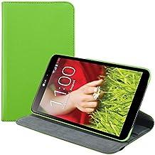 kwmobile Funda para LG G Pad 8.3 HD - Case de 360 grados de cuero sintético para tablet - Smart Cover completo y plegable para tableta en verde