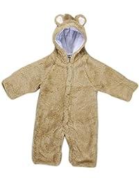 Ularma Nouveau-né Bébé Garçons Jeunes Filles Molleton Hiver Lapin Ours Barboteuse Vêtements Habit de Neige