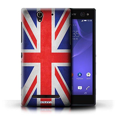 Kobalt® Imprimé Etui / Coque pour Sony Xperia C3 / Portugal/portugais conception / Série Drapeau Royaume-Uni/Britannique