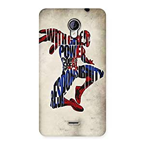 Stylish Power And Responsibility Multicolor Back Case Cover for Micromax Unite 2 A106