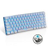 Urchoiceltd® Ajazz Geek Ak33Anti-ghosting LED rétro-éclairé USB filaire clavier de jeu mécanique Bleu/noir commutateurs pour bureau, Écrivent et jouer à des Jeux