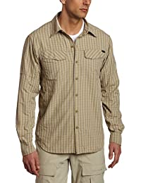 Camisa de manga larga de cuadros plateados (XX-Large, Fossil Mini Plaid)