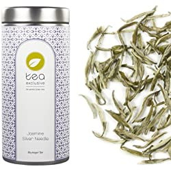 tea exclusive - Jasmine Silver Needle, hochwertiger Weisser Tee mit Jasmin, China, Dose 50g