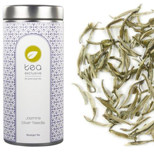 tea exclusive - Jasmine Silver Needle, hochwertiger Weisser Tee mit Jasmin, China, Dose 50g