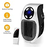 Jukkre Space Heater, Handy Plug-in Ceramic Portable Personal Compact Mini Heater Remote Controller
