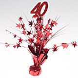Party Deco Ruby Rot 101,6cm Aufsteller–Pkg/6
