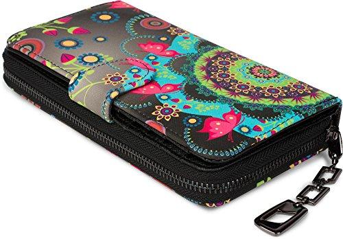styleBREAKER Geldbörse mit Ethno Blumen und Blüten Muster - 2