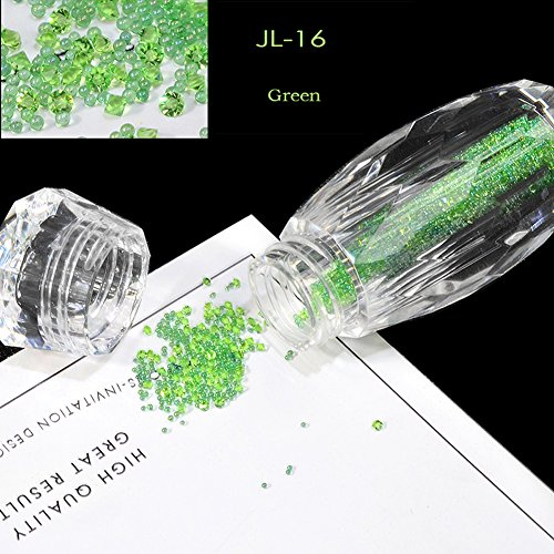 Nail Art Strass Perles Elf Coloré Design DIY Nail Décoration Mini Perles (Micro Perceuse Transparente Mixte) pour Les Ongles, Décorations De Téléphones Mobiles,JL016