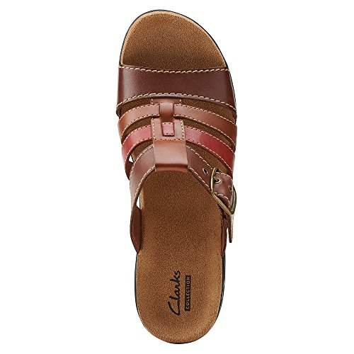 Clarks Lexi Alloy Slide Tan Leather