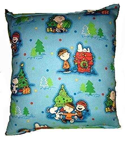 Charlie Brown Kissen Snoopy Erdnüsse Weihnachten Kissen Winter Fest Urlaub Kissen handgemacht in den USA Kissen ist ungefähr 25,4 cm x 27,94 cm