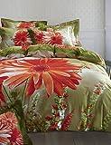 ZQ BETTERHOME Bettwäsche 4Stück aus reiner Baumwolle einheitliche Definition 3d stereoskopische Blumen Druck der Abdeckung von Bettwäsche Queen