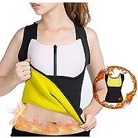 Adelgazamiento Body Shaper para las mujeres Belly Fat Burner caliente sudor Sauna chaleco sin mangas para pérdida de peso para mujer no cremallera negro por balabalam, large