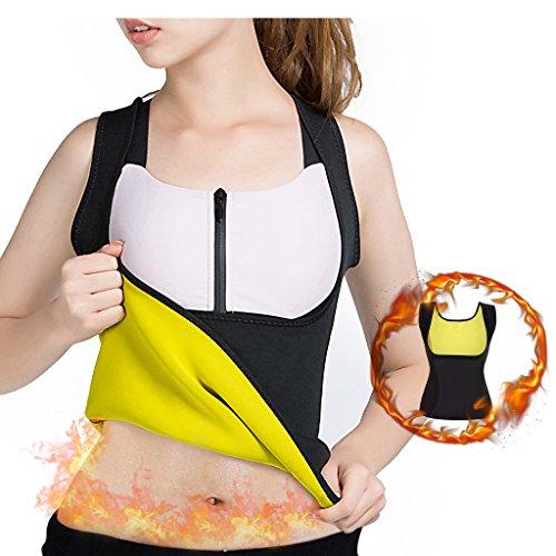 Abnehmen Body Shaper für Frauen Bauch Fett Brenner Hot Schweiß Sauna Weste Tank Top Gewicht Verlust-kein Reißverschluss schwarz von balabalam, XXXL