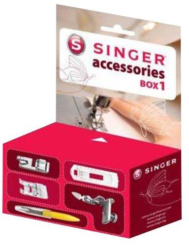 Singer 292117 Box 1 Boite d'Accessoires Pieds de Biche pour Machine à Coudre