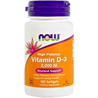 Vitamin D-3, 2000 IU - 120 softgels by NOW Foods