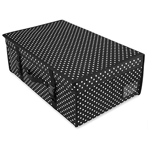 Lagerbox, Reisebox schwarz weiß gepunktet, 35 cm x 55 cm x 20 cm Hangerworld