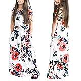 Best Flower Girl Robes - Bébé fille Floral robe longue, Kid Girls Flower Review