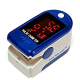 Finger Pulse Oximeter With LED Display (Includes Carrycase, Batteries and Lanyard)