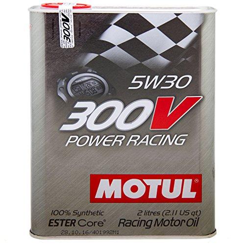 Huile Motul 300V Power Racing 5W30 (2L) pas cher