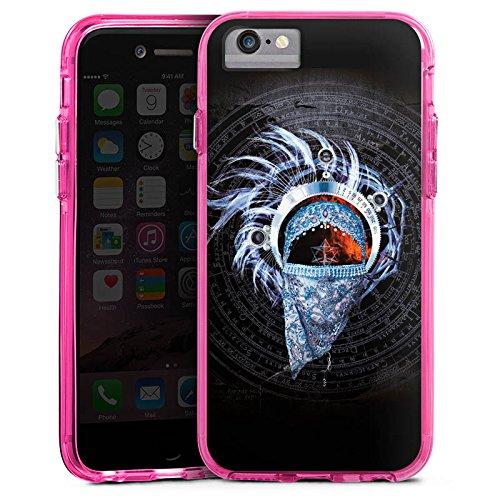 Apple iPhone 6 Bumper Hülle Bumper Case Glitzer Hülle Enigma La Puerta Del Cielo Pattern Bumper Case transparent pink