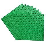 Katara 1741 - Bauplatten Platten 8er Set 13cmx13cm / 16x16 Pins, Grundplatte Kompatibel Lego, Sluban, MY, Papimax, Grün
