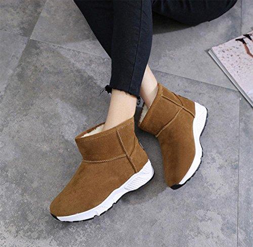 KUKI Stivali da donna, inverno, sport, scarponi da neve, caldi, in tubo, cashmere pesante, scarpe di cotone 2