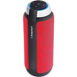 Haut-Parleur Bluetooth Enceinte Portable,Tronsmart T6 Bluetooth Speaker 25W,Surround 360 Stéréo,15 Heures d'Autonomie en Lecture, Mains Libres,Compatible avec Smartphone,Ordinateur Rouge