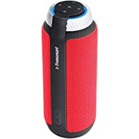 Tronsmart T6 Altavoz Bluetooth, 25W 360° Sonido Grave Subwoofer con 15 Horas de Reproducción Continua Manos Libres Inalámbrico Portátil Altavoz para iPhone, Andriod -Rojo