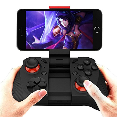 thanly Universal Wireless Bluetooth Game Controller 3D VR Motion Gamepad Joystick Joypad für Android Samsung Gear VR S6 Edge S7 Edge Nexus HTC LG Tablet PC IOS 9,3 iPhone 6 6S Plus Spiele etc. mit Clip