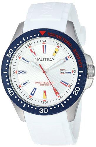 Reloj de hombre blanco náutico Jones Beach NAPJBC001