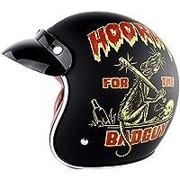 Casco De Casco De Moto Retro Clásico Harley Motocicleta Eléctrica Coche Casco Medio Hombres Y Mujeres Temporada Montar Cascos De Seguridad,XL