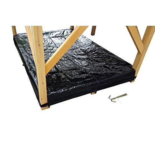 Exit Abdeckplane Sandkasten für Holzspielhaus Loft und Crooky (500-750) - Schwarz