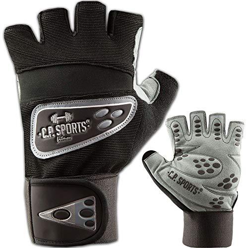 C.P.Sports Profi Grip Bandagen Handschuh F9, schwarz/Silber, Fitnesshandschuh für Damen und Herren