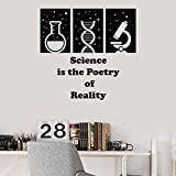 Science Lab Citation Scolaire Classe Scientifique Vinyle Sticker Décor À La Maison Art Mural Stickers Muraux 58X60 Cm...