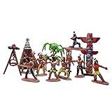 Gazechimp 1pcs Action Figuren Sammlung Indianer Auf Dem Pferd Aktionfigur Spielfiguren