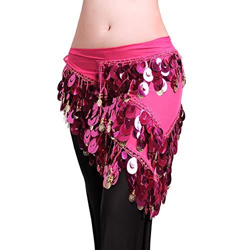 ROYAL SMEELA Bauchtanz Hüfttuch Kostüm für Frauen Tanz umhüllt Rock Flamenco Zigeuner Gold Silber Münze Dreieck Hüften Schals Bauchtanz-Kleidung