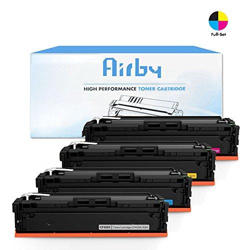 Airby174; CF400X CF401X CF402X CF403X HP 201X Toner kompatibel für HP Color LaserJet Pro MFP M277dw, M252dw, MFP M277n, M252n 4 Stücke (Schwarz Cyan Gelb Magenta)